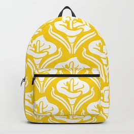 Calla Lily Pattern Yellow Backpack