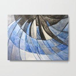 Blue Alert Metal Print