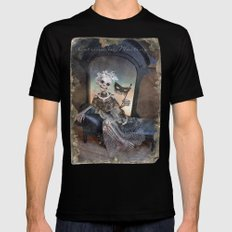 Rucus Studio Catrina In Waiting Mens Fitted Tee LARGE Black