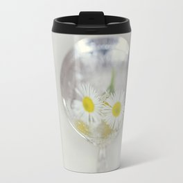 Vintage Spoon and White Flower Travel Mug