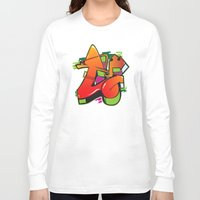 graffiti Long Sleeve T-shirts featuring Graffiti by Sobhani