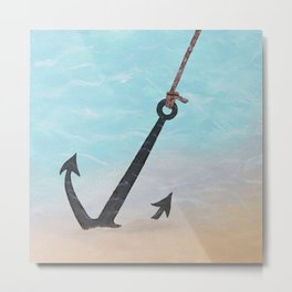 Anchored to Hope Metal Print