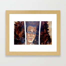 Face Between Bars! Framed Art Print