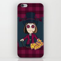 willy wonka iPhone & iPod Skins featuring Willy Wonka by 7pk2 online