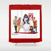 1d Shower Curtains featuring Big 1D 6! by justsomestuff