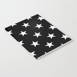 Stars (White/Black) Notebook