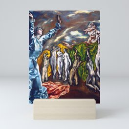 """El Greco (Domenikos Theotokopoulos) """"The Vision of Saint John or The Opening of the Fifth Seal"""" Mini Art Print"""