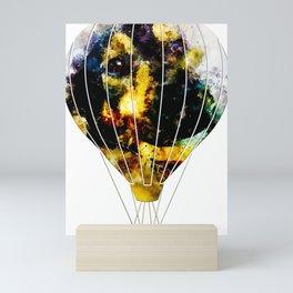 dog 2 hot air balloon Mini Art Print