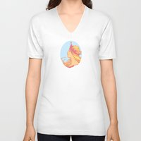 princess V-neck T-shirts featuring Princess by Robert Cooper