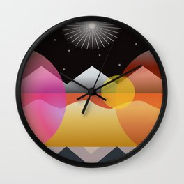 Solar Flares Wall Clock