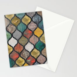 Boho Moroccan Ogee Pattern Stationery Cards