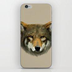 Wolf face iPhone & iPod Skin