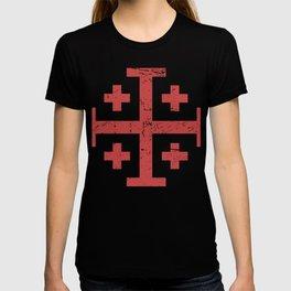 Crusader Cross Of Jerusalem | Renaissance Festival Design T-shirt
