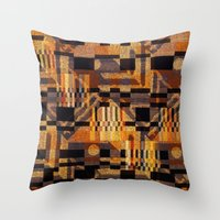art deco Throw Pillows featuring art deco by clemm