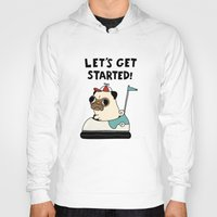 pug Hoodies featuring PUG! by Jarvis Glasses
