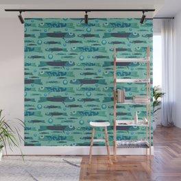 fish pattern Wall Mural