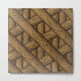 Real Wood Pattern Metal Print