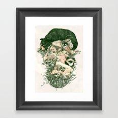 Fur Coat Framed Art Print