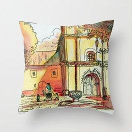Templo San Francisco Throw Pillow