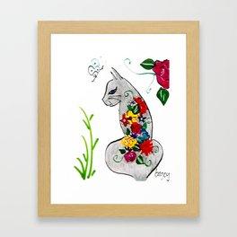 Cat Bouquet Framed Art Print