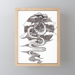 Sky Dragon Framed Mini Art Print