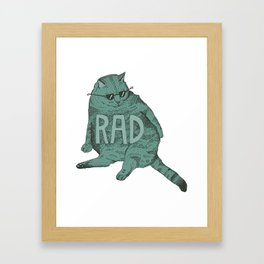 Rad Cat Framed Art Print