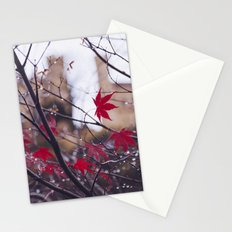 Blood Red Autumn Stationery Cards