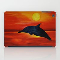 dolphin iPad Cases featuring Dolphin by Monica Georg-Buller