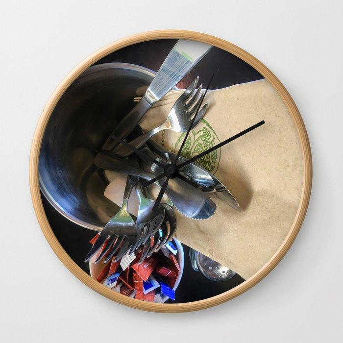 Cafe Cutlery Wall Clock