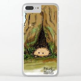 Peekink Hedgehog Clear iPhone Case