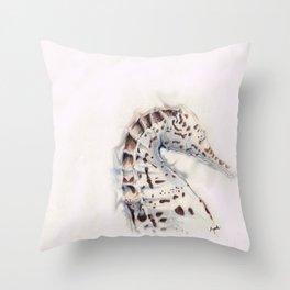 Seahorse Study Throw Pillow