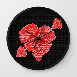 Old heart of coffee V All Print Over Shirts Wall Clock