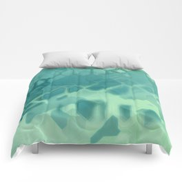 future fantasy turquoise Comforters