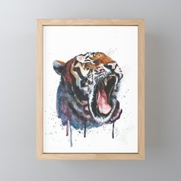 Tiger Watercolour Painting Print by Bonnie Dixson, Art, Animal Art, Home Decor Framed Mini Art Print