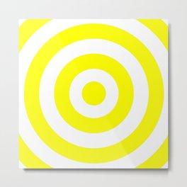 Target (Yellow & White Pattern) Metal Print