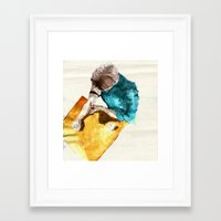 rush Framed Art Prints featuring Rush by Andrea Wilkum