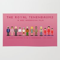 the royal tenenbaums Area & Throw Rugs featuring The Royal Pixelbaums by Isabel