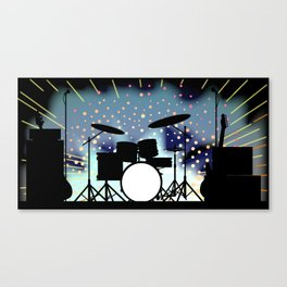 Bright Rock Band Stage Canvas Print