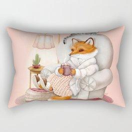 Cozy Hygge Fox Rectangular Pillow