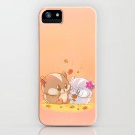 Hamsters Autumn Vibes Cute Hamster Kawaii Artwork iPhone Case