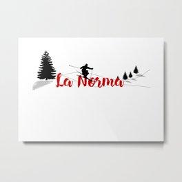 Ski at La Norma Metal Print