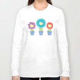 Happy Flowers Long Sleeve T-shirt