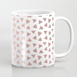Rose Gold Triangle Checkers Coffee Mug