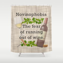 Novinophobia Shower Curtain