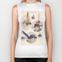 hats Biker Tanks featuring Chapeaux/Hats by Kathead Tarot/David Rivera