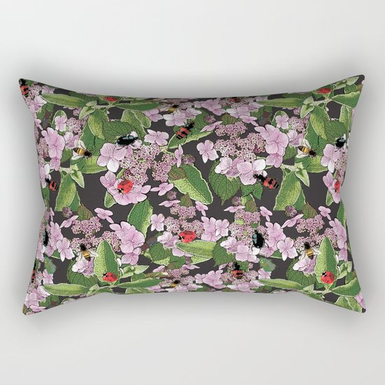 Floral insects pattern Rectangular Pillow