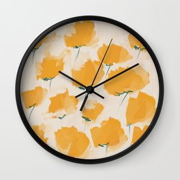 The Yellow Flowers Wall Clock