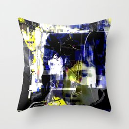 Glitch cover Throw Pillow