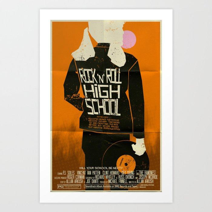 Rock 'n' Roll High School  Art Print