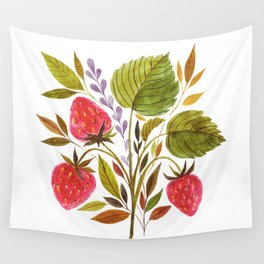 Early Summer Strawberries Are The Sweetest Wall Tapestry